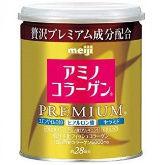 MEIJI Amino Collagen Premium, Коллаген+гиалуроновая кислота+Q10, 200гр( на 28дней)